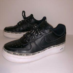 Women's Nike Air Force 1 Black White Size 6